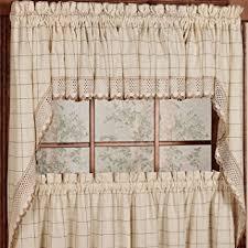 Amazon Prime Kitchen Curtains by Amazon Com Adirondack Cotton Kitchen Window Curtains Toast 38