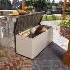 Suncast Resin Deck Box 50 Gallon by Lifetime 130 Gallon Deck Box Walmart Com