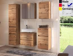 badezimmer britt 25 wotan eiche 5 teilig 3d spiegelschrank badmöbel expendio