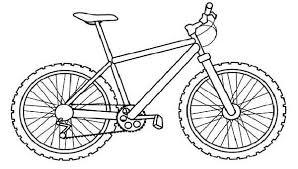 Pin Drawn Pushbike Color 4