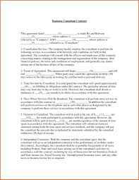 Consultant Agreement Template Images Letter Sample Format