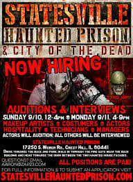 Halloween Horror Nights Auditions 2017 by Statesville Haunted Prison And City Of The Dead Haunted