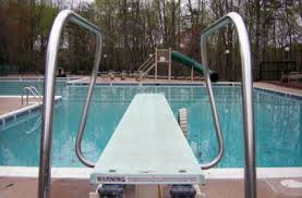 Swimming Pool Diving Boardspool Boardplatform Divingspringboard Diver