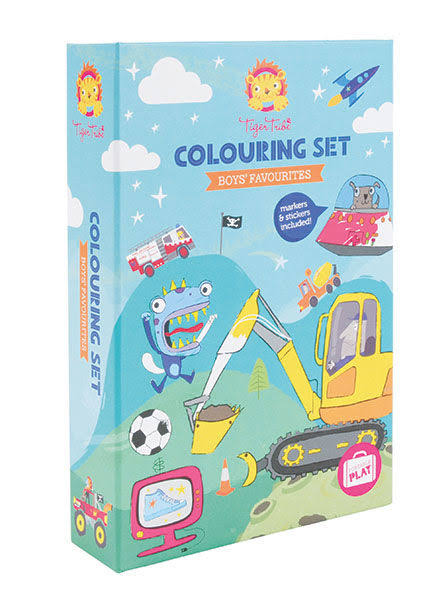 Tiger Tribe Boys Favourites Colouring Set