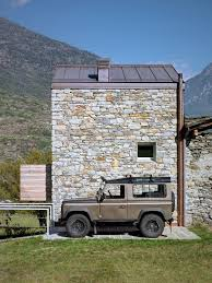 100 Modern Stone Walls Alpine House With An Extensive Use Of Timber And