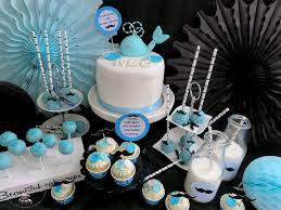 blauer baby wal sweet table für gentlemen inkl