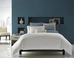 View In Gallery Blue With A Hint Of Grey Along White Give The Bedroom Sophisticated Look
