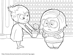 Anger Disgust Fear Coloring Page From Inside Out