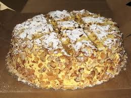 The famous BURNT ALMOND CAKE From Dicks Bakery in my Home town