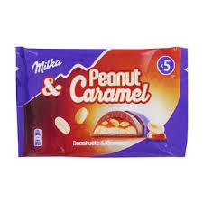 barres milka peanut caramel
