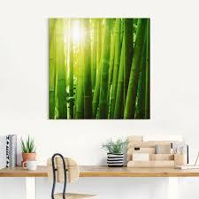 artland wandbild asiatischer bambuswald im morgenlicht gräser 1 st in vielen größen produktarten leinwandbild poster wandaufkleber