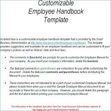 Small Business Handbook Template Employee For Administration