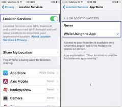 find list of which app use location service in iPhone iPad stop it