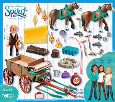 playmobil 9477 spirit vater jim mit kutsche