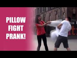 PILLOW FIGHT PRANK With Randoms