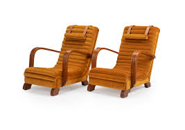 The 'Streamline Moderne' Art Deco Club Lounge Chairs.