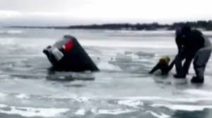 100 Michigan Truck VIDEO Man Saved Trying To Retrieve Items From Sinking Truck