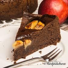 würziger apfelkuchen mit viel schokolade
