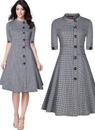 women u0027s classic 1950 u0027s vintage audrey gingham checks shirtwaist a