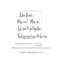 Build Your Own Dear Beach Letter Words And Sentiment Rubber Stamps