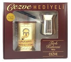 Mehmet Efendi Turkish Coffee 88oz W Stainless Steel Pot