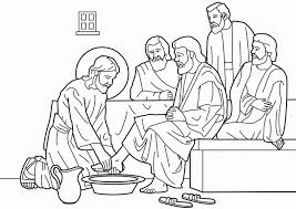 Jesus Coloring Page Popular Washes The Disciples Feet