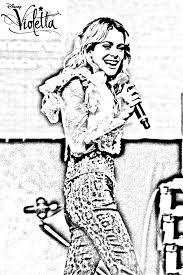 Pour Imprimer Ce Coloriage Gratuit Violetta Blonde Concert Cliquez Sur L