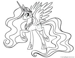 Coloring Pages Princess Luna My Little Pony Page In A Dress Part Friendship