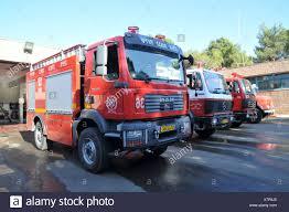 100 Blue Fire Trucks Israel Haifa Fire Trucks At The Northern District Fire Station