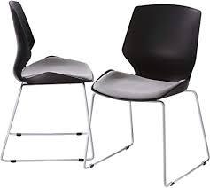 spectra gmbh polsterstuhl schalensitz vesuri 2 x lounge chair set esszimmer stühle in weiß grau oder schwarz schwarz