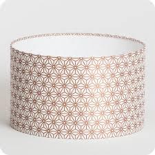 abat jour suspension cylindrique tissu hoshi cuivre serene