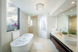 Modern Chandelier Over Bathtub 40 luxurious master bathrooms most with incredible bathtubs