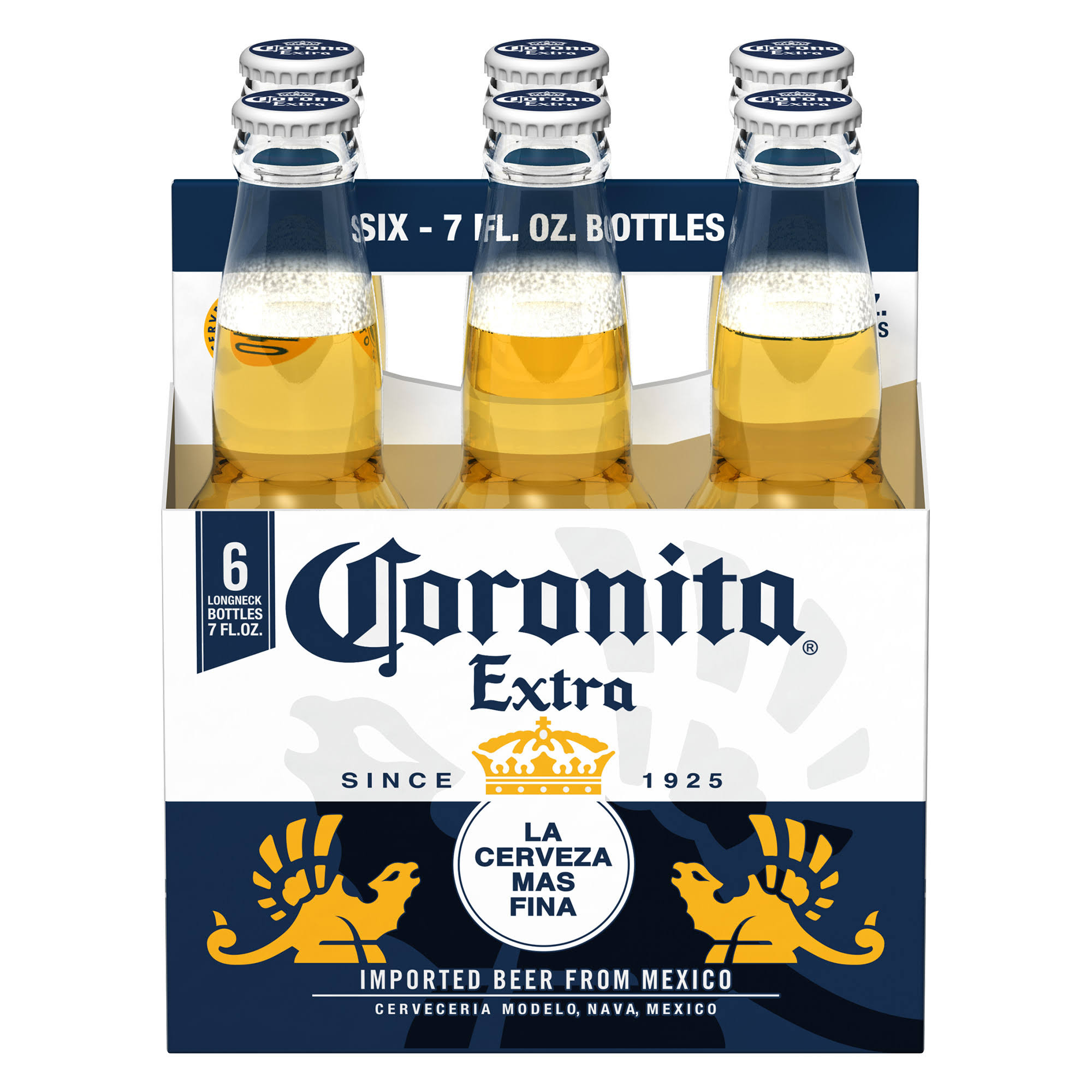 Coronita Extra Beer - 6 pack, 7 fl oz bottles