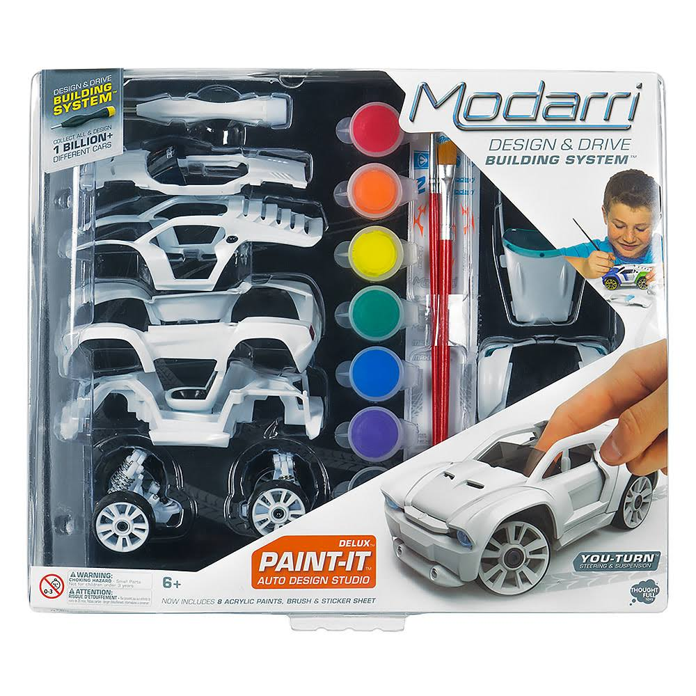 Modarri Delux Paint It Auto Design Studio & Build Your Own Toy Car Creative Stem