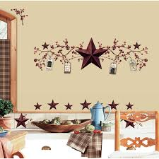 Primitive Living Room Wall Colors by Roommates Rmk1276scs Country Stars And Berries Peel U0026 Stick Wall