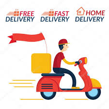 Delivery Boy Ride Scooter Motorcycle Service Stock Vector