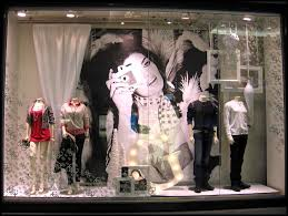 Happy Holidays Victoria Christmas Window Displays