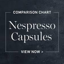 Nespresso Capsules Comparison Chart