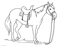 Downloads Free Coloring Pages Horses