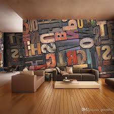 3D Giant Photo Wallpaper Letter Number Wall Mural Personality Bedroom Hallway Room Decor Sofa TV