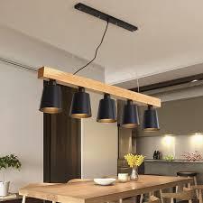 großhandel moderne pendelleuchten holz led küchenbeleuchtung led le esszimmer hängele deckenleuchten beleuchtungsvorrichtungen für langer