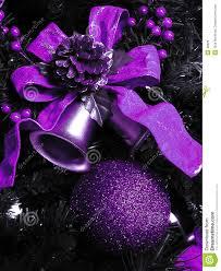 Purple Christmas Decorations Stock Photo