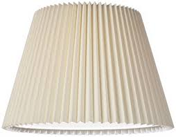 ivory linen knife pleat l shade 9x14 5x10 spider lshades