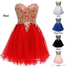 harveybridal short crystal prom dress gold lace graduation dresses