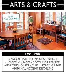 Arts And Crafts Interior Design Style Wood With Prominent Grain Blocky Shapes Rectilinear