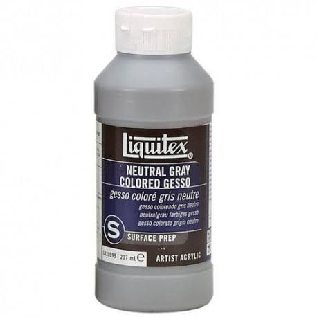 Liquitex Professional Gesso Surface Prep Medium Acrylic Paint - Neutral Gray, 237ml