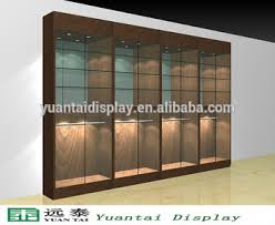 Modern Wooden Glass Display Cabinet Showroom Counter Designs For Retail Shop