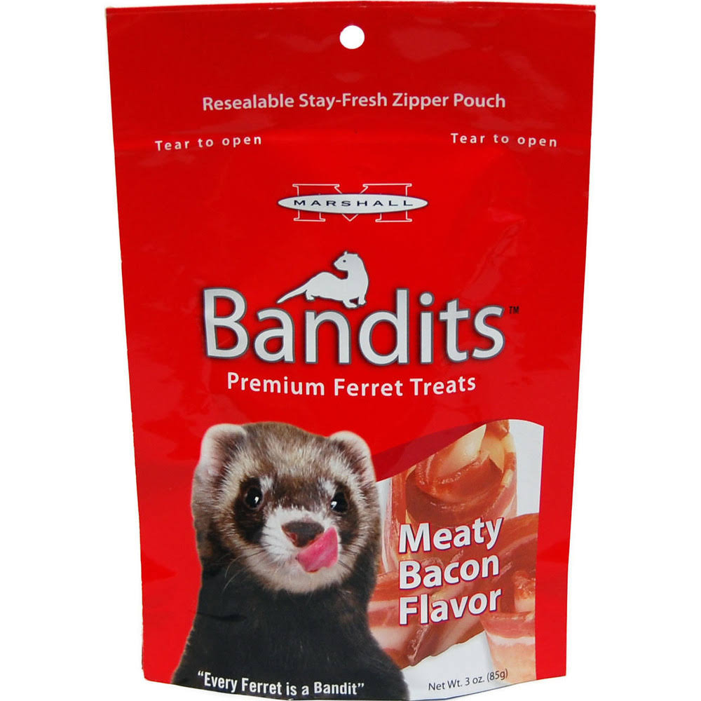 Marshall Bandits Ferret Treat - Meaty Bacon