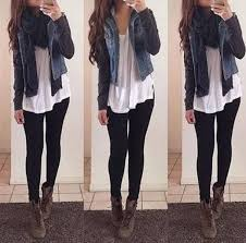Cute Outfits Ideas With Leggings Suitable For Going Out On Fall 26