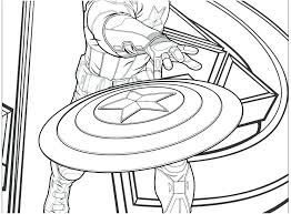 Captain America Coloring Pages Book Avengers Footage Page